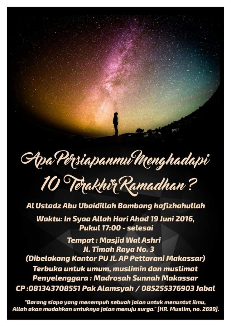 Pengajian Ramadhan mesjid wal ashr