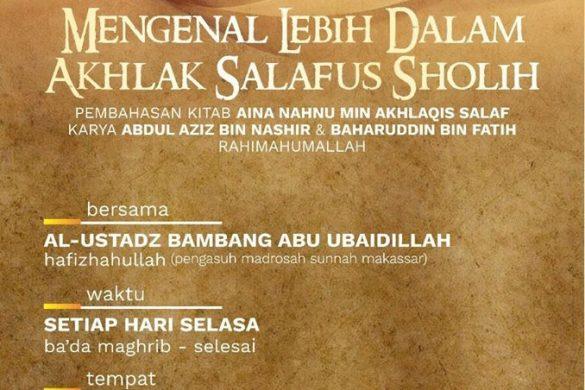 Mengenal Lebih Dalam Akhlak Salaf