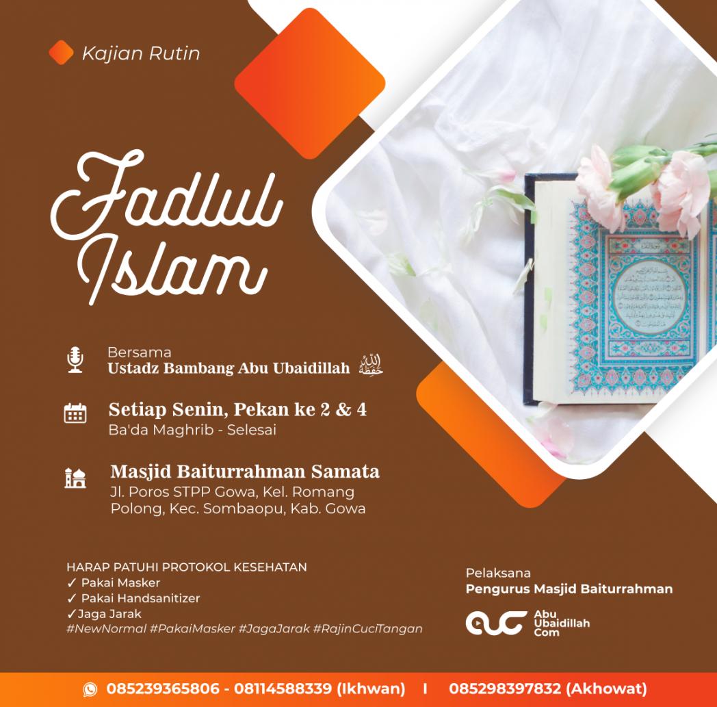 Kitab Fadlul Islam
