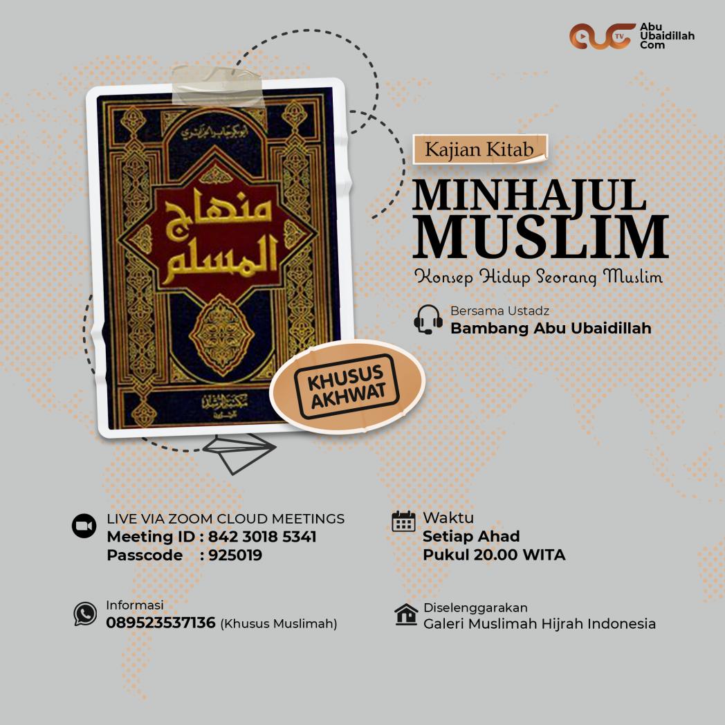 Kajian kitab minhahjul muslim